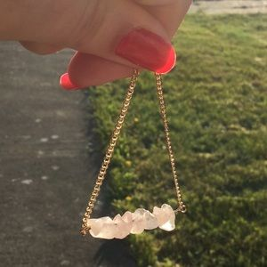 NWT Rose Quartz Choker